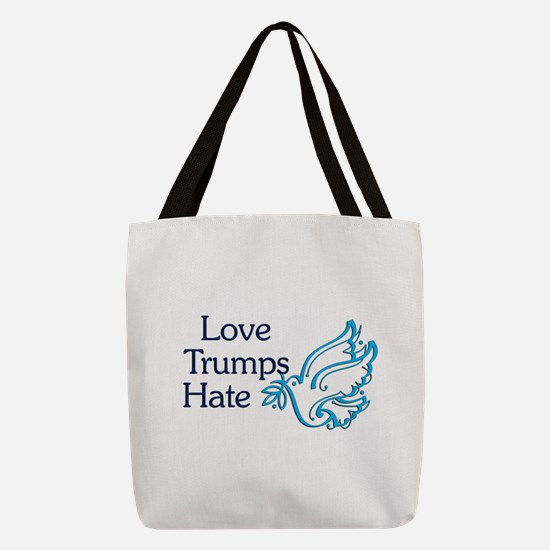 Love Trumps Hate Polyester Tote Bag