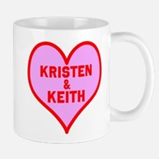 Personalized with names Valentines day heart Mug