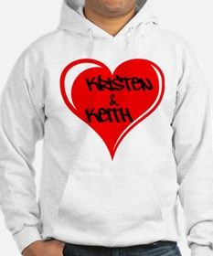 Personalized with names Valentines day heart Hoode