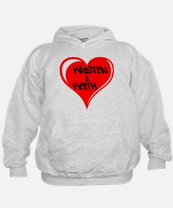 Personalized with names Valentines day heart Hoodie