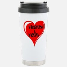 Personalized with names Valentines day heart Ceram