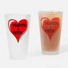 Personalized with names Valentines day heart Drink