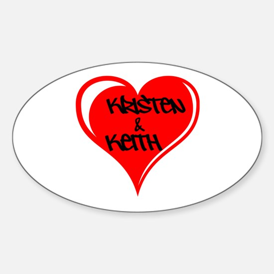 Personalized with names Valentines day heart Stick