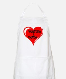 Personalized with names Valentines day heart Apron