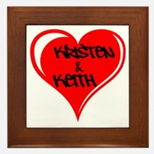 Personalized with names Valentines day heart Frame