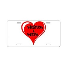Personalized with names Valentines day heart Alumi