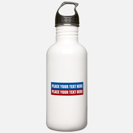 America Text Message Water Bottle