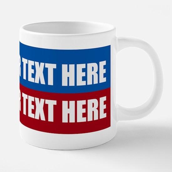 America Text Message 20 oz Ceramic Mega Mug