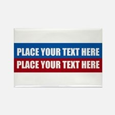 America Text Message Rectangle Magnet
