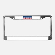 America Text Message License Plate Frame