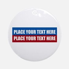 America Text Message Round Ornament