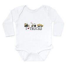 I Love Trucks Infant Creeper Body Suit