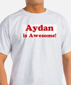 Aydan is Awesome Ash Grey T-Shirt