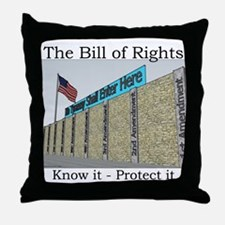 The Wall Against Tyranny Throw Pillow