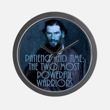 Tolstoy Warriors Wall Clock