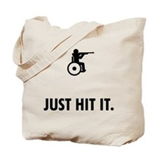 Wheelchair Shooting Tote Bag