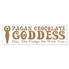 Pagan Chocolate Goddess Bumper Sticker