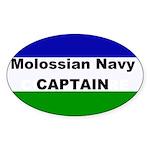 Molossian Navy Captain Sticker