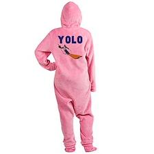 Yolo Skiing Footed Pajamas