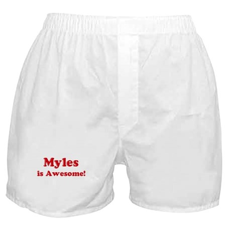 Myles is Awesome Boxer Shorts