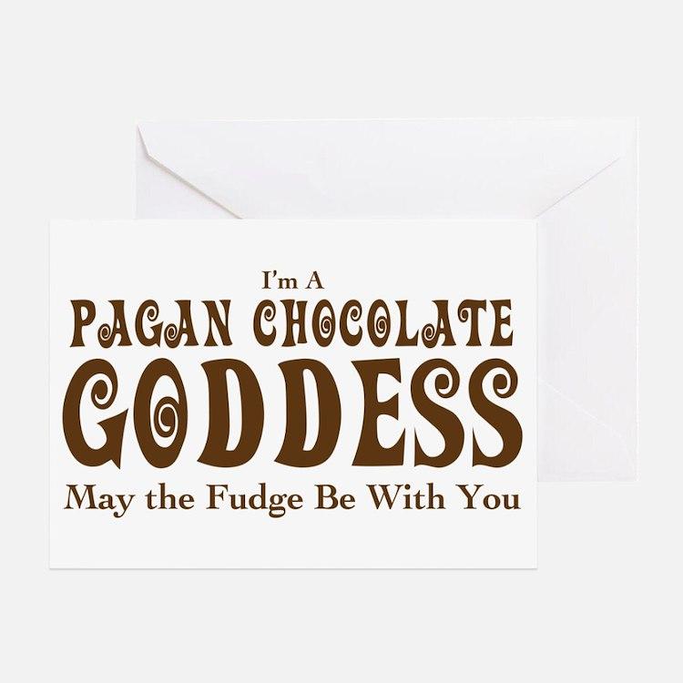 Pagan Chocolate Goddess Greeting Card