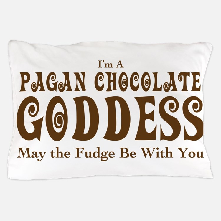 Pagan Chocolate Goddess Pillow Case  Funny Wiccan Bedding Funny Wiccan  Duvet Covers Pillow Cases More. Wiccan Bedding