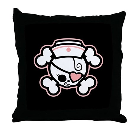 Dolly Heart RN Throw Pillow