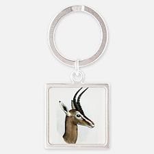 Antelope Illustration Square Keychain