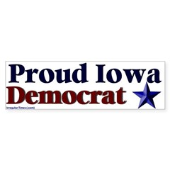 Proud Iowa Democrat Bumper Bumper Sticker