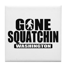Gone Squatchin Washington *State Edition* Tile Coa