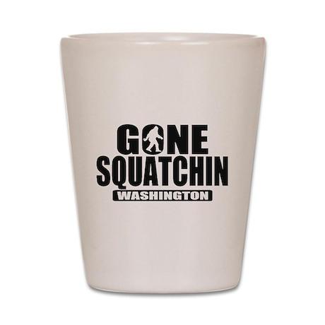 Gone Squatchin Washington *State Edition* Shot Gla