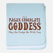 Pagan Chocolate Goddess baby blanket