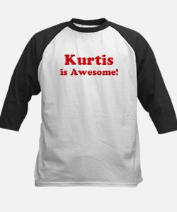 Kurtis is Awesome Kids Baseball Jersey