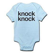 knock knock, who's there Infant Bodysuit