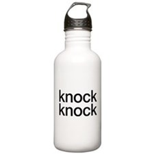 knock knock, who's there Water Bottle
