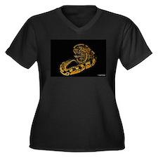Ball Python Women's Plus Size V-Neck Dark T-Shirt