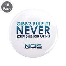 "Gibbs Rule #1 3.5"" Button (10 pack)"