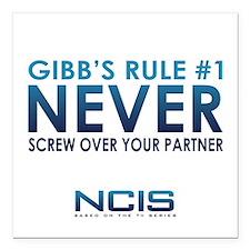 "Gibbs Rule #1 Square Car Magnet 3"" x 3"""
