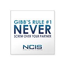 "Gibbs Rule #1 Square Sticker 3"" x 3"""
