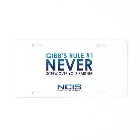 Gibbs Rule #1 Aluminum License Plate