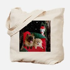 Cairn Terrier and Pomeranian Tote Bag