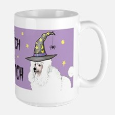 Poodle Witch Large Mug