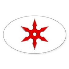 Shuriken Red Ninja Star Decal