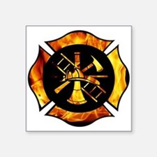 Flaming Maltese Cross Sticker