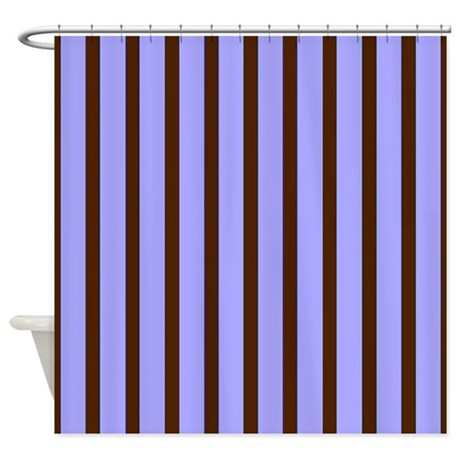 Masculine Blue Stripes Shower Curtain By Stripstrapstripes
