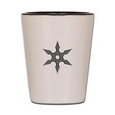 Shuriken Silver Ninja Star Shot Glass