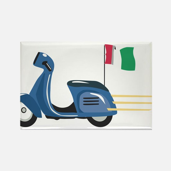 Italian Vespa Rectangle Magnet