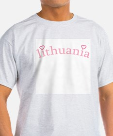 """""""Lithuania with Hearts"""" T-Shirt"""