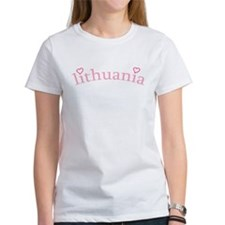 """""""Lithuania with Hearts"""" Tee"""