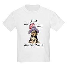 Yorkie Pirate Kids T-Shirt